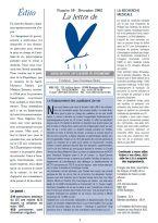 Lire la Lettre d'ALIS n°10