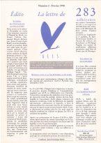 Lire la Lettre d'ALIS n°2