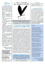 Lire la Lettre d'ALIS n°7
